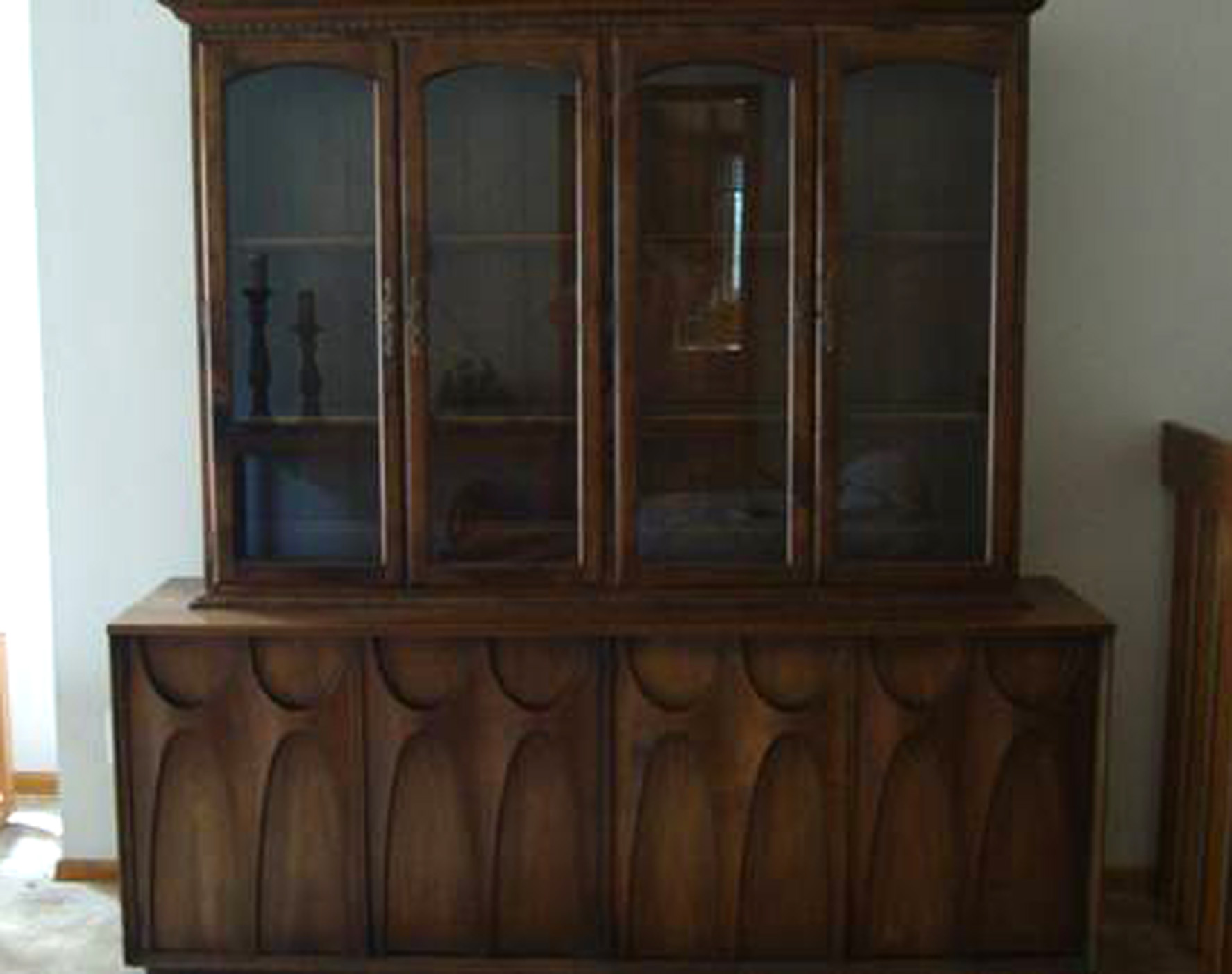 China Cabinet Hutch 350 Black Forest